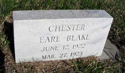 BLAKE, CHESTER EARL - Frontier County, Nebraska | CHESTER EARL BLAKE - Nebraska Gravestone Photos