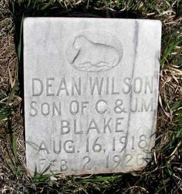 BLAKE, DEAN WILSON - Frontier County, Nebraska | DEAN WILSON BLAKE - Nebraska Gravestone Photos