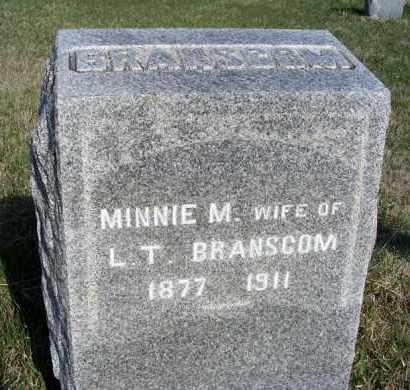 BRANSCOM, MINNIE M. - Frontier County, Nebraska | MINNIE M. BRANSCOM - Nebraska Gravestone Photos