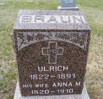 BRAUN, ULRICH - Frontier County, Nebraska   ULRICH BRAUN - Nebraska Gravestone Photos