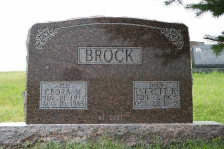 BROCK, EVERETT K. - Frontier County, Nebraska | EVERETT K. BROCK - Nebraska Gravestone Photos