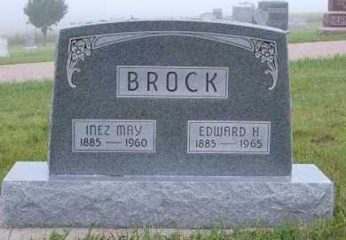 BROCK, EDWARD H. - Frontier County, Nebraska | EDWARD H. BROCK - Nebraska Gravestone Photos