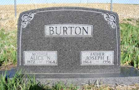 BURTON, JOSEPH E. - Frontier County, Nebraska | JOSEPH E. BURTON - Nebraska Gravestone Photos