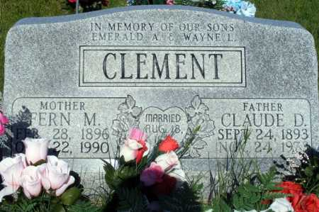 CLEMENT, CLAUDE D - Frontier County, Nebraska | CLAUDE D CLEMENT - Nebraska Gravestone Photos