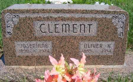 CLEMENT, OLIVER K - Frontier County, Nebraska | OLIVER K CLEMENT - Nebraska Gravestone Photos