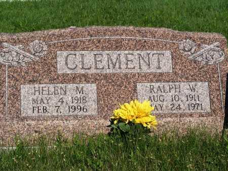 CLEMENT, RALPH W. - Frontier County, Nebraska | RALPH W. CLEMENT - Nebraska Gravestone Photos