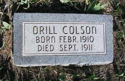 COLSON, ORILL - Frontier County, Nebraska | ORILL COLSON - Nebraska Gravestone Photos