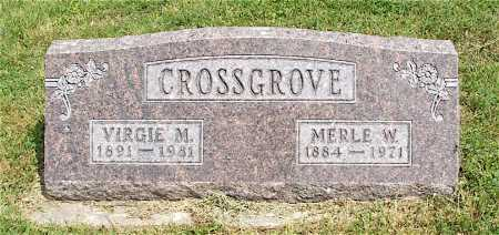CROSSGROVE, VIRGIE M. - Frontier County, Nebraska | VIRGIE M. CROSSGROVE - Nebraska Gravestone Photos