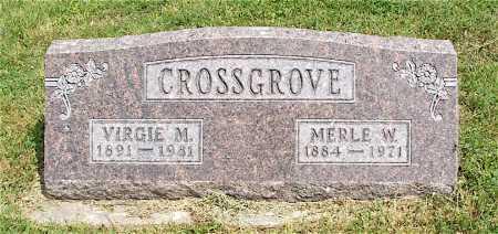 CROSSGROVE, MERLE W. - Frontier County, Nebraska   MERLE W. CROSSGROVE - Nebraska Gravestone Photos