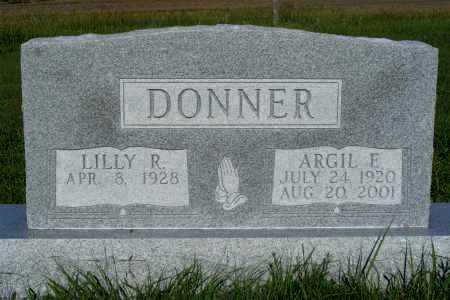 DONNER, ARGIL F. - Frontier County, Nebraska   ARGIL F. DONNER - Nebraska Gravestone Photos
