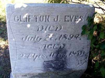 EVES, CLIFTON J. - Frontier County, Nebraska | CLIFTON J. EVES - Nebraska Gravestone Photos