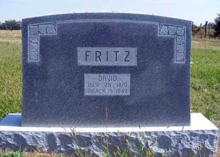 FRITZ, DAVID - Frontier County, Nebraska   DAVID FRITZ - Nebraska Gravestone Photos
