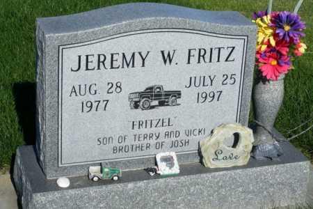 FRITZ, JEREMY W. - Frontier County, Nebraska | JEREMY W. FRITZ - Nebraska Gravestone Photos