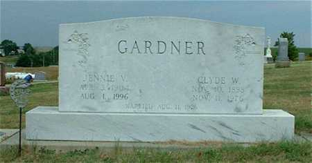 GARDNER, JENNIE V. - Frontier County, Nebraska | JENNIE V. GARDNER - Nebraska Gravestone Photos