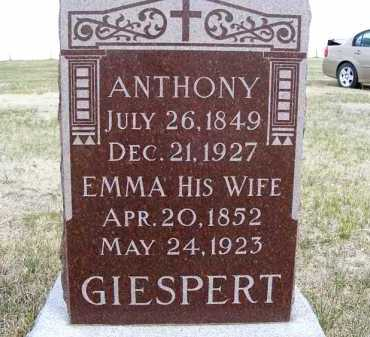 GIESPERT, ANTHONY - Frontier County, Nebraska | ANTHONY GIESPERT - Nebraska Gravestone Photos