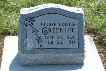 GREENLEE, ELOISE ESTHER - Frontier County, Nebraska | ELOISE ESTHER GREENLEE - Nebraska Gravestone Photos