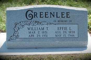 GREENLEE, WILLIAM T. - Frontier County, Nebraska | WILLIAM T. GREENLEE - Nebraska Gravestone Photos