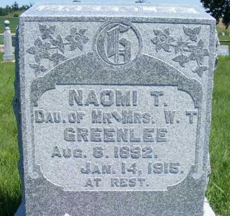 GREENLEE, NAOMI T. - Frontier County, Nebraska | NAOMI T. GREENLEE - Nebraska Gravestone Photos