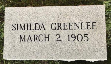 GREENLEE, SIMILDA - Frontier County, Nebraska | SIMILDA GREENLEE - Nebraska Gravestone Photos