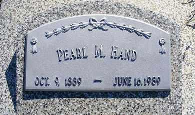 HAND, PEARL M. - Frontier County, Nebraska | PEARL M. HAND - Nebraska Gravestone Photos