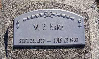 HAND, W. F. - Frontier County, Nebraska | W. F. HAND - Nebraska Gravestone Photos