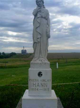 HANN, PHEBA AINLAY - Frontier County, Nebraska   PHEBA AINLAY HANN - Nebraska Gravestone Photos