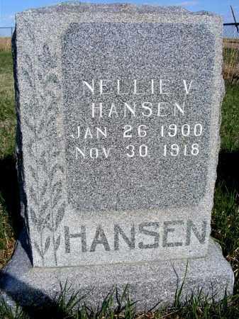 HANSEN, NELLIE V. - Frontier County, Nebraska | NELLIE V. HANSEN - Nebraska Gravestone Photos