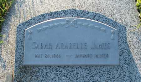 JAMES, SARAH ARABELLE - Frontier County, Nebraska   SARAH ARABELLE JAMES - Nebraska Gravestone Photos