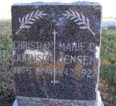 JOHNSON, CHRISTIAN - Frontier County, Nebraska | CHRISTIAN JOHNSON - Nebraska Gravestone Photos