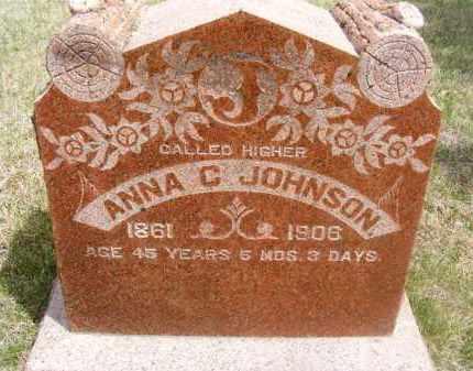 JOHNSON, ANNA C. - Frontier County, Nebraska | ANNA C. JOHNSON - Nebraska Gravestone Photos