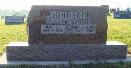 JOHNSON, ARTHUR LEROY - Frontier County, Nebraska | ARTHUR LEROY JOHNSON - Nebraska Gravestone Photos