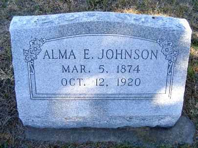 JOHNSON, ALMA E. - Frontier County, Nebraska | ALMA E. JOHNSON - Nebraska Gravestone Photos