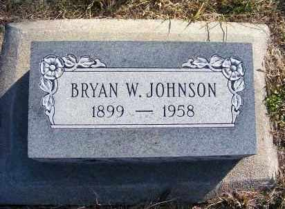 JOHNSON, BRYAN W. - Frontier County, Nebraska | BRYAN W. JOHNSON - Nebraska Gravestone Photos
