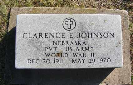 JOHNSON, CLARENCE E. - Frontier County, Nebraska | CLARENCE E. JOHNSON - Nebraska Gravestone Photos
