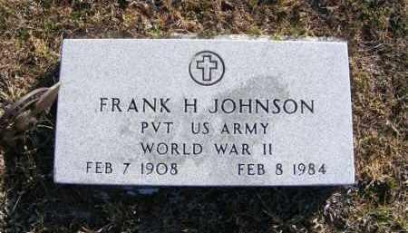 JOHNSON, FRANK H. - Frontier County, Nebraska | FRANK H. JOHNSON - Nebraska Gravestone Photos