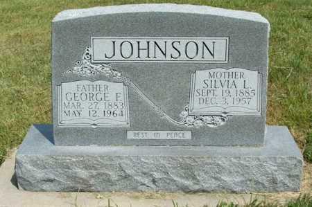 JOHNSON, GEORGE F. - Frontier County, Nebraska | GEORGE F. JOHNSON - Nebraska Gravestone Photos