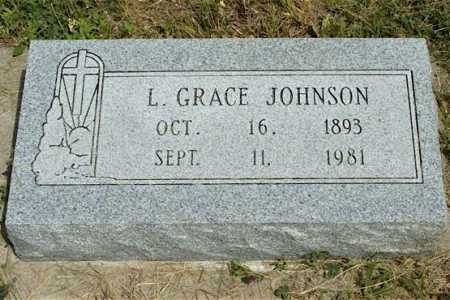JOHNSON, L. GRACE - Frontier County, Nebraska | L. GRACE JOHNSON - Nebraska Gravestone Photos