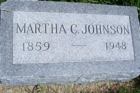JOHNSON, MARTHA C. - Frontier County, Nebraska   MARTHA C. JOHNSON - Nebraska Gravestone Photos