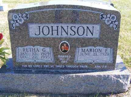 JOHNSON, MARION E. - Frontier County, Nebraska | MARION E. JOHNSON - Nebraska Gravestone Photos