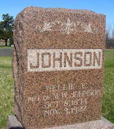 JOHNSON, NELLIE E. - Frontier County, Nebraska | NELLIE E. JOHNSON - Nebraska Gravestone Photos