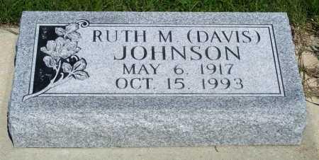 JOHNSON, RUTH M. (DAVIS) - Frontier County, Nebraska   RUTH M. (DAVIS) JOHNSON - Nebraska Gravestone Photos