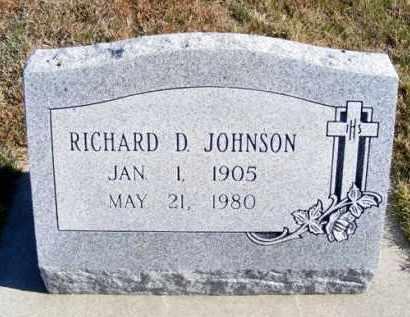 JOHNSON, RICHARD D. - Frontier County, Nebraska | RICHARD D. JOHNSON - Nebraska Gravestone Photos