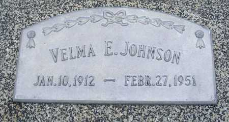 JOHNSON, VELMA E. - Frontier County, Nebraska | VELMA E. JOHNSON - Nebraska Gravestone Photos