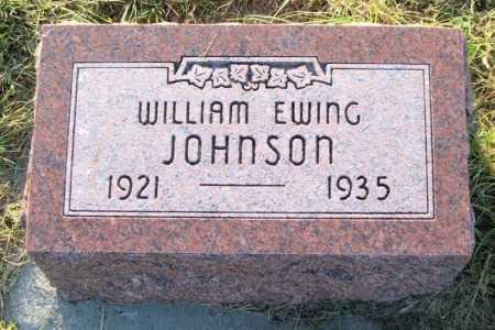JOHNSON, WILLIAM EWING - Frontier County, Nebraska | WILLIAM EWING JOHNSON - Nebraska Gravestone Photos