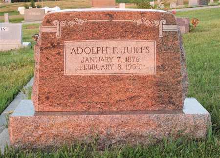 JUILFS, ADOLPH F. - Frontier County, Nebraska   ADOLPH F. JUILFS - Nebraska Gravestone Photos