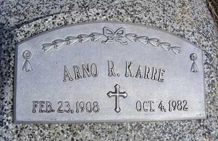 KARRE, ARNO R. - Frontier County, Nebraska | ARNO R. KARRE - Nebraska Gravestone Photos