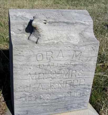 KNEPP, ORA M. - Frontier County, Nebraska | ORA M. KNEPP - Nebraska Gravestone Photos