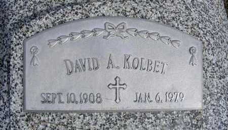 KOLBET, DAVID A. - Frontier County, Nebraska | DAVID A. KOLBET - Nebraska Gravestone Photos