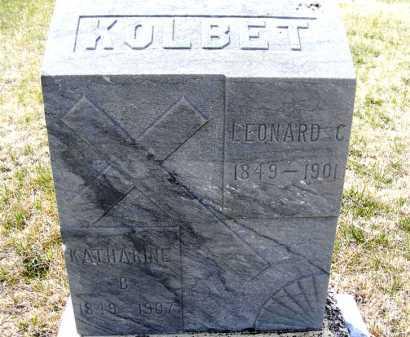 KOLBET, KATHARINE B. - Frontier County, Nebraska   KATHARINE B. KOLBET - Nebraska Gravestone Photos