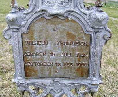 KRUMMEICH, WILHELM - Frontier County, Nebraska   WILHELM KRUMMEICH - Nebraska Gravestone Photos